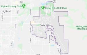 Map of Cedar Hills