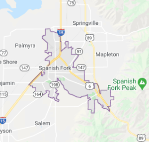 Map of Spanish Fork, Ut